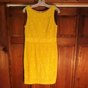 Boden Yellow Lace Dress